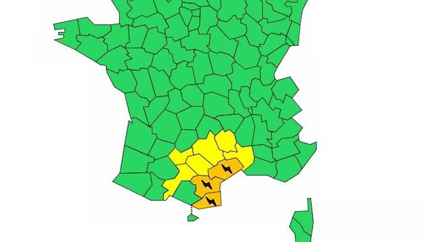 Météo France prévoit de fortes averses dans l'Hérault.
