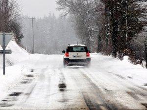 Neige et verglas : appel à la prudence sur les routes du Nord-Aveyron