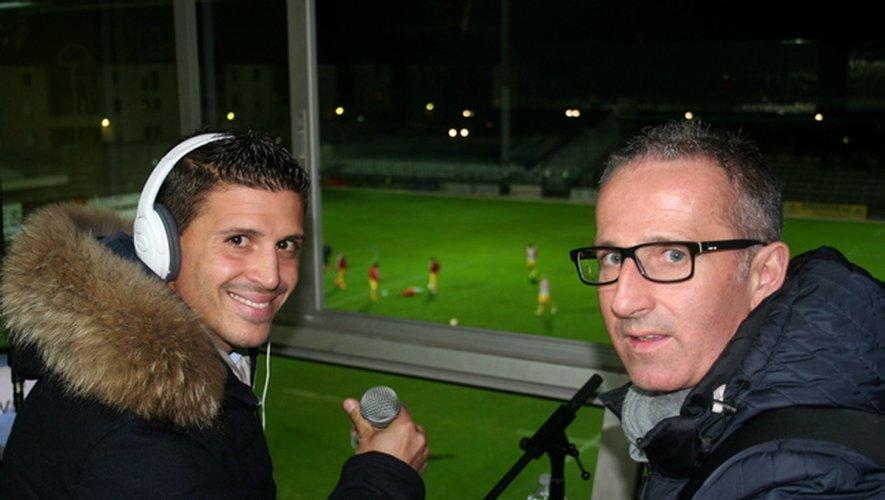 Les deux consultants d'un soir, Nicolas Bayod et Nicolas Trottier, samedi.
