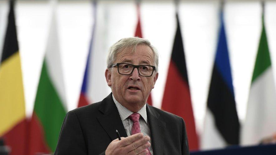 Le président de la Commission européenne Jean-Claude Juncker à Strasbourg, le 5 octobre 2016