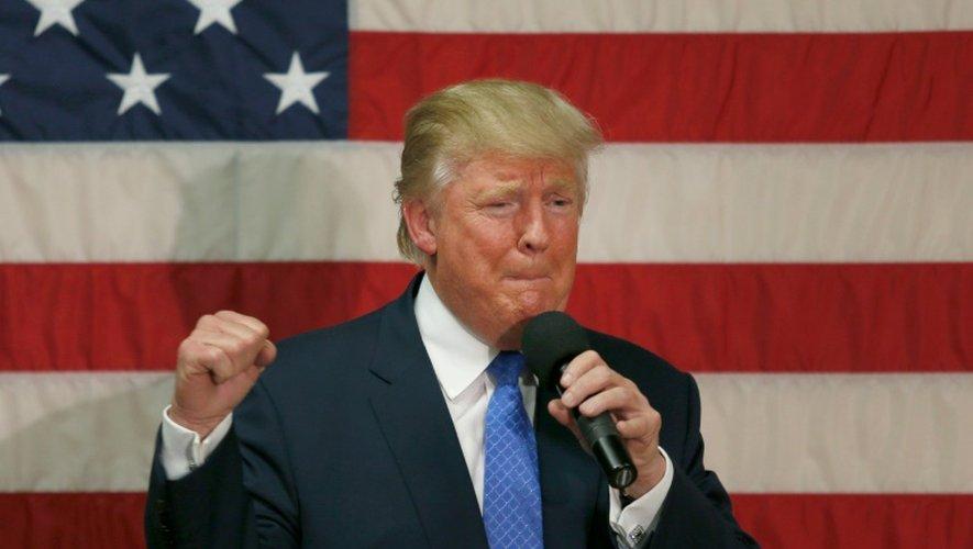 Donald Trump en meeting dans le New Hampshire le 6 octobre 2016
