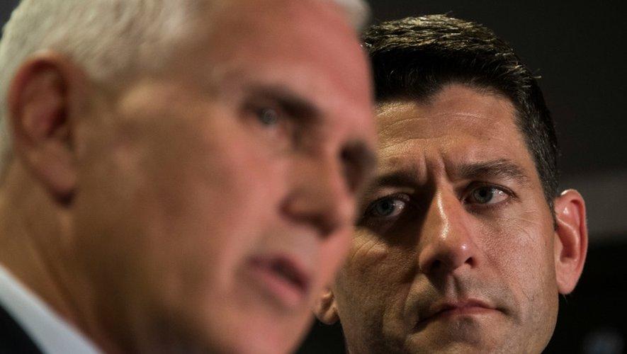 Le Républicain Paul Ryan (D), président de la chambre des représentants,le 13 septembre 2016