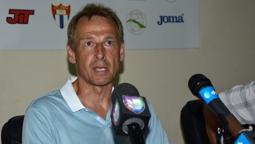 L'entraîneur des Etats-Unis, Jurgen Klinsmann, lors de la conférence d'après-match, le 7 octobre 2016 à La Havane