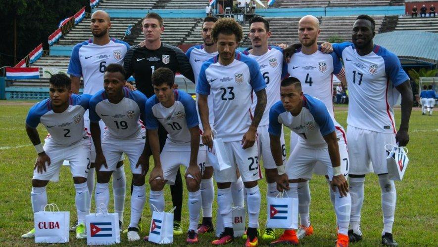 La photo de l'équipe américaine qui a joué un match amical à Cuba, le 7 octobre 2016