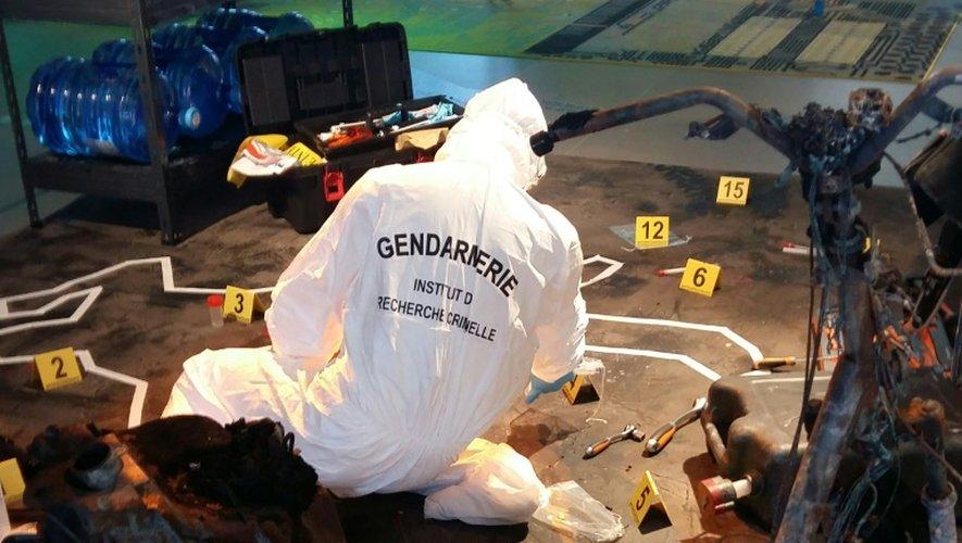 Reconstitution d'une scène de crime au Musée national de la gendarmerie de Melun le 6 octobre 2016