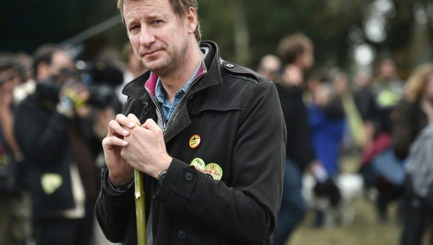 Yannick Jadot, candidat à la primaire écologiste, le 8 octobre 2016 à Notre-Dame-des-Landes