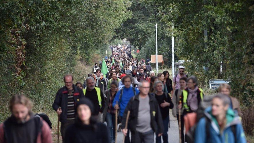 Manifestation contre le projet d'aéroport de Notre-Dame-des-Landes, le 8 octobre 2016 sur le site