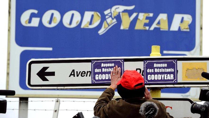 Abords de l'usine Goodyear d'Amiens-nord, le 26 février 2013