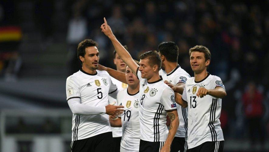 Toni Kroos auteur du 2e but de l'Allemagne face à la République tchèque en qualifications pour le Mondial, le 8 octobre 2016 à Hambourg