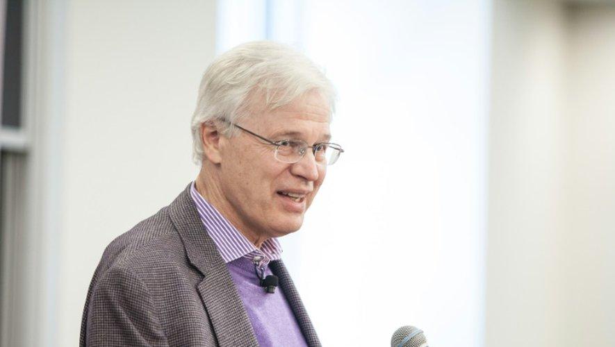 Le Finlandais Bengt Holmström, colauréat du Nobel d'économie, le 10 octobre 2016 à Cambridge dans le Massachusetts