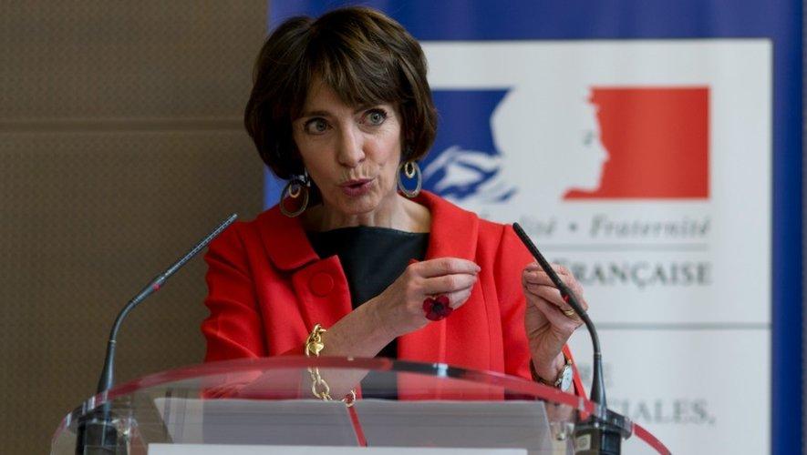 La ministre de la Santé Marisol Touraine lors d'une conférence de presse le 4 février 2016 à Paris