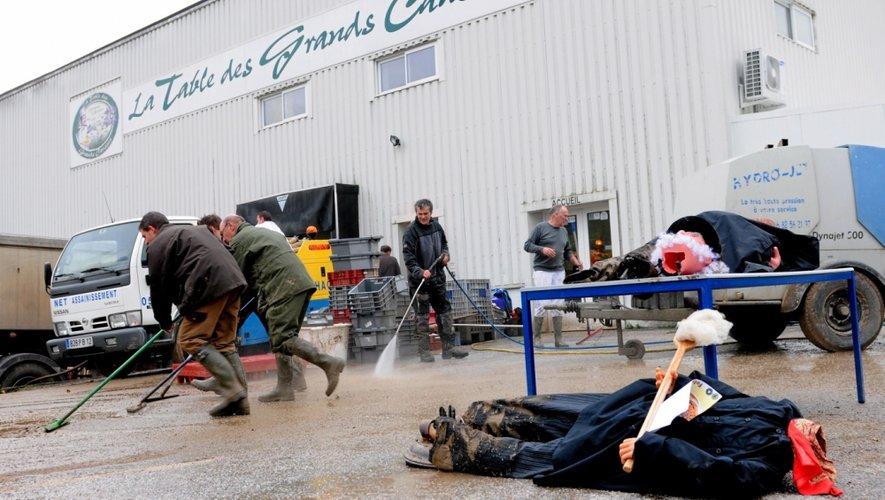 Les entreprises de la zone de Vergonhac, à Saint-Georges-de-Luzençon, sont particulièrement sinistrées.