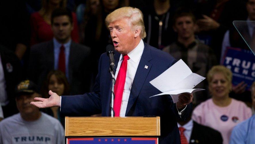 Le candidat républician Donald Trump en meeting le 10 octobre 2016 à  Wilkes-Barre, en Pennsylvanie