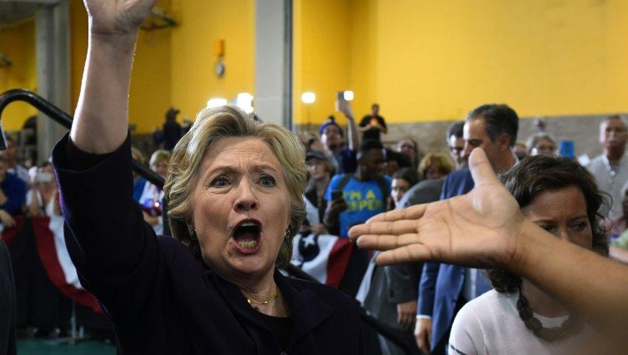 La candidate démocrate Hillary Clinton lors d'un meeting le 10 octobre 2016 à Detroit dans le Michigan