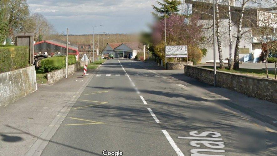 La fuite de gaz a été localisée dans un lotissement à la sortie du village de Rignac en direction de Villefranche.