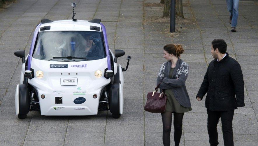 Premier test de voitures autonomes à Milton Keynes, au Royaume-Uni, le 11 octobre 2016