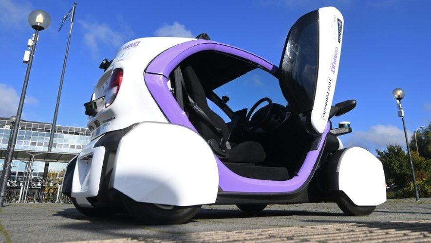 Une voiture autonome à Milton Keynes, au Royaume-Uni, le 11 octobre 2016