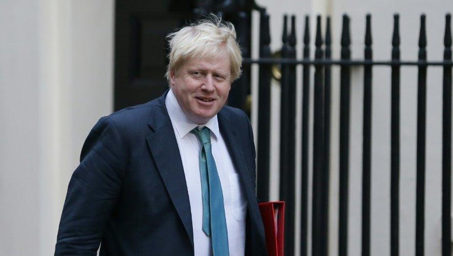 Le ministre britannique des Affaires étrangères Boris Johnson arrive pour un conseil des ministres à Londres, le 11 octobre 2016