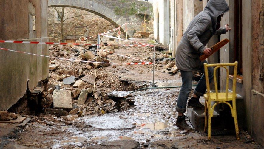 Lendemain de crue à Saint-Affrique