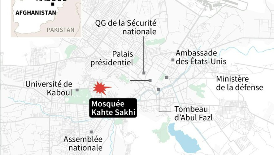 Kaboul : près d'une mosquée chiite
