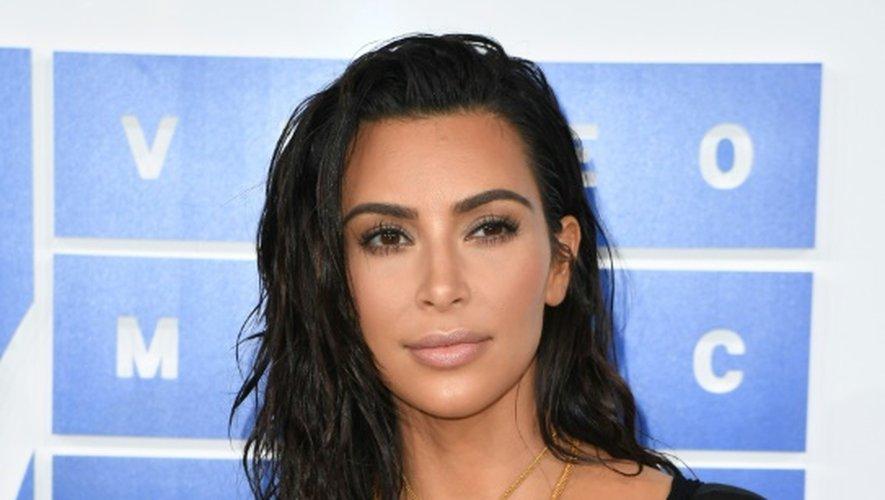 Kim Kardashian lors de la cérémonie 2016 MTV Video Music Awards à New York, le 28 août 2016