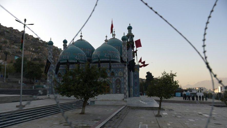 La mosquée chiite de Karte Sakhi où s'est produite une attaque, le 12 octobre 2016 à Kaboul, en Afghanistan