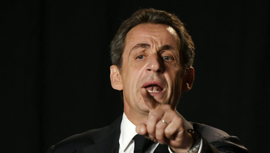 Nicolas Sarkozy lors d'un meeting le 11 octobre 2016 à Archamps