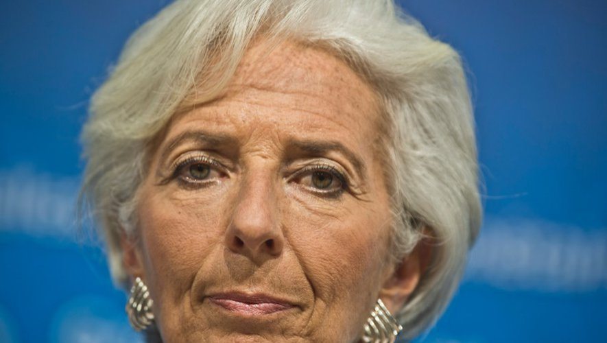 Christine Lagarde, présidente du FMI, le 9 octobre 2015, à Lima