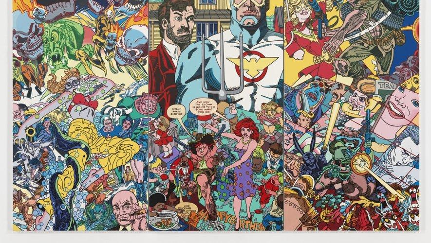 L'univers plastique d'Erró mêle des personnages de bandes dessinées à des figures de despote.