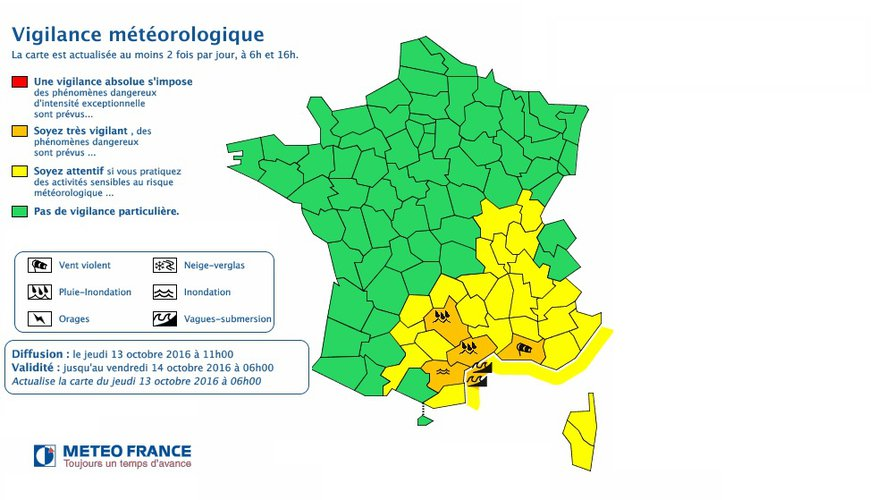Pluie-inondation. L'Aveyron en alerte orange