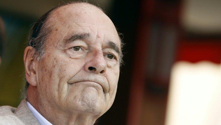 L'ancien président Jacques Chirac, le 14 août 2011 à Saint-Tropez