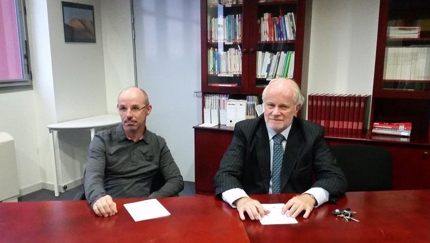 Le coordinateur du projet, le docteur Jean-Christophe Charet avec Frédéric Bonnet.