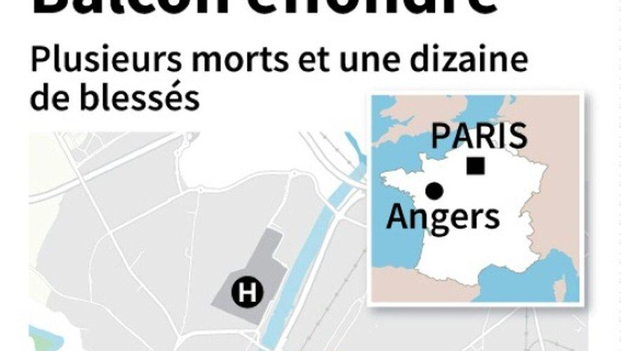 Un balcon s'effondre à Angers lors d'une fête: quatre morts et quatorze blessés