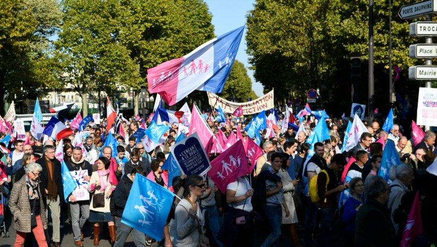"""Manifestation à l'appel de la """"La Manif Pour Tous"""" , le 16 octobre 2016 à Paris"""