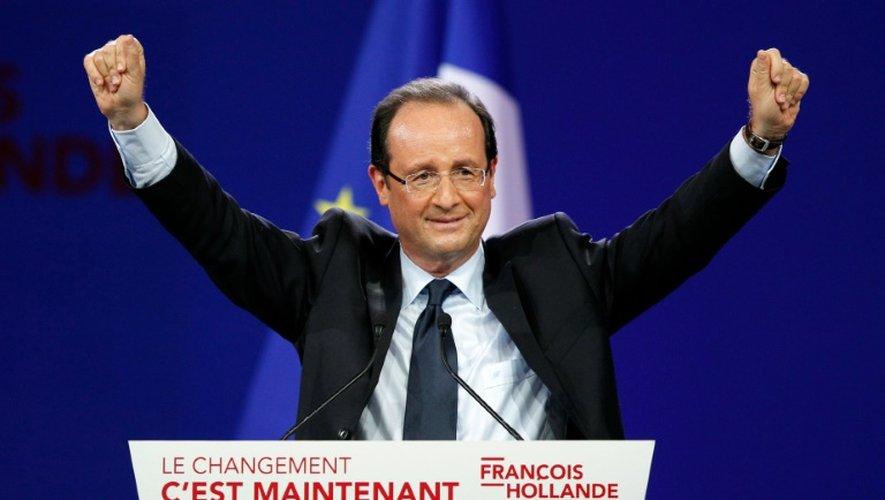 François Hollande, candidat à la présidentille de 2012, lors de son discours au Bourget le 22 janvier 2012