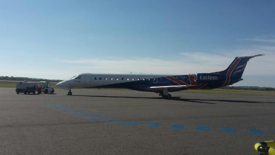 Depuis dimanche, les rotations sont désormais assurées par cet avion.
