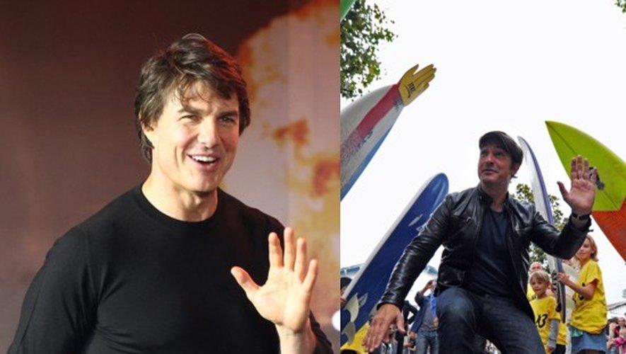 En promo : Tom Cruise pour Jack Reacher et Jean Duujardin pour Brice 3