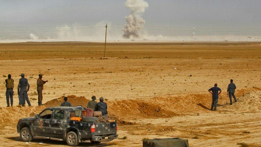 Les forces irakiennes dans la région d'al-Shurah, au sud de Mossoul, le 17 octobre 2016