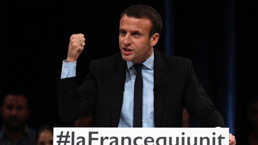 Emmanuel Macron lors d'un meeting le 18 octobre 2016 à Montpellier