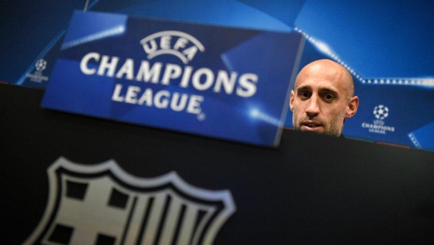 Pep Guardiola à une conférence de presse au Camp Nou  à Barcelone, le 18 octobre 2016 avant la rencontre de Manchester City et de son ancien club le Barça