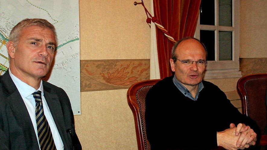 Eric Suzanne a évoqué avec le maire François Marty le dossier de la revitalisation du centre bourg.