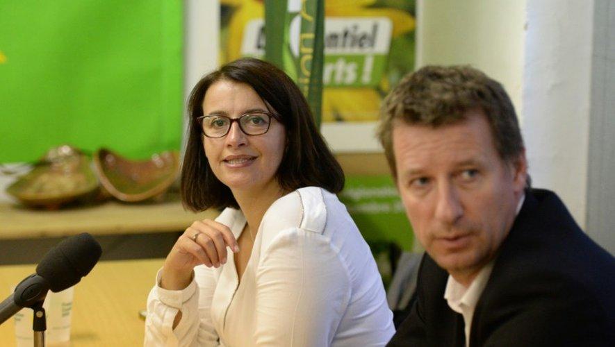 Cécile Duflot et Yannick Jadot le 28 septembre 2016 à Bordeaux