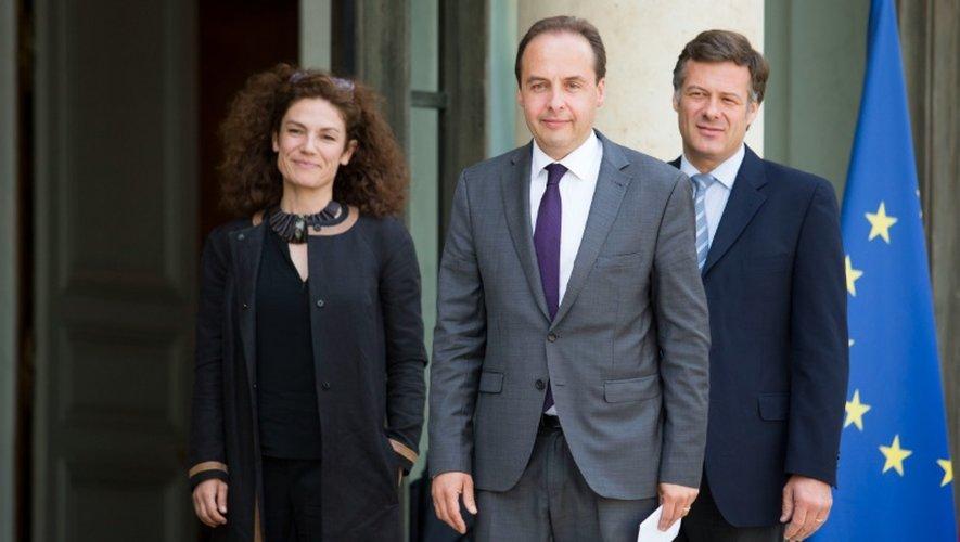 Chantal Jouanno, Jean-Christophe Lagarde et Arnaud Richard le 25 juin 2016 sur le perron de l'Elysée à Paris