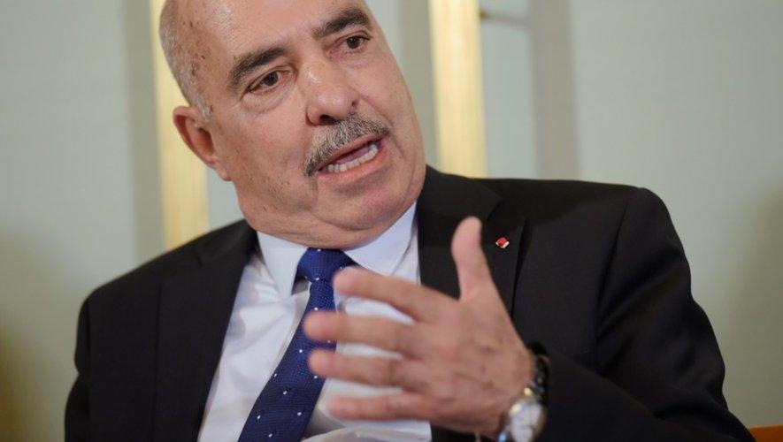 Abdessatar Ben Moussa, lauréat du prix Nobel de la paix le 9 décembre 2015, lors d'une conférence de presse à Oslo