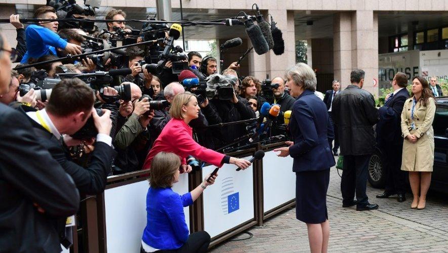 La Première ministre britannique Theresa May au sommet européen à Bruxelles le 20 octobre 2016