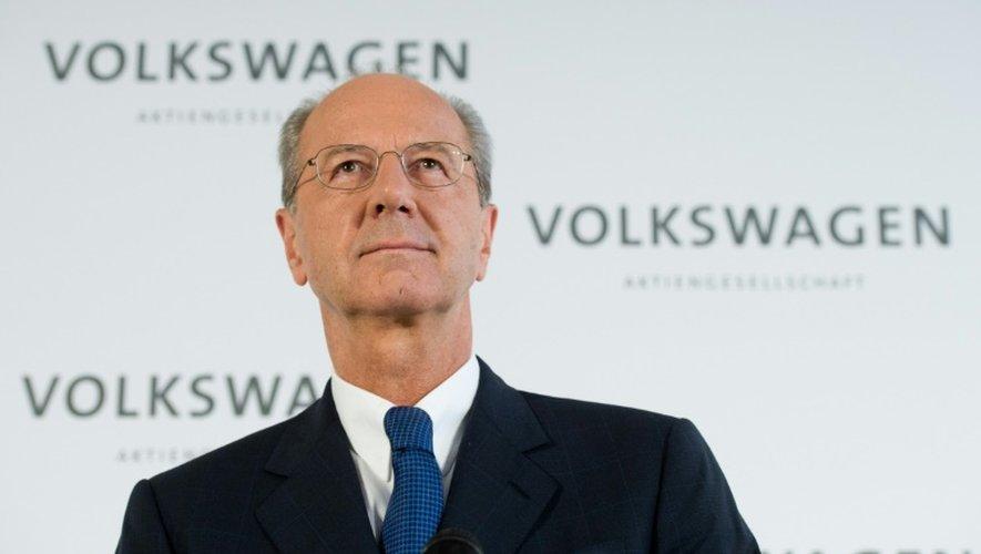 Hans Dieter Poetsch le 7 octobre 2015 à Wolfsburg