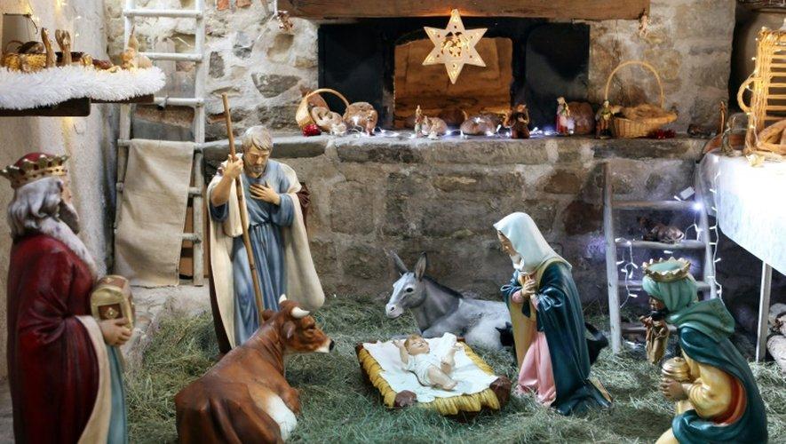 Une crèche le 20 décembre 2010 à Luceram dans le sud-est de la France