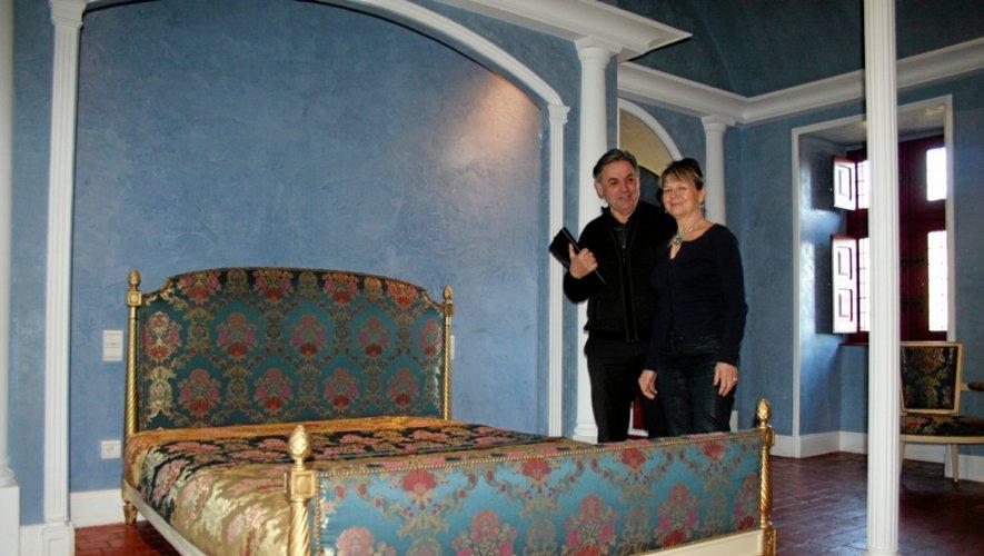 Une partie de la décoration des chambres provient notamment de palais vénitiens.