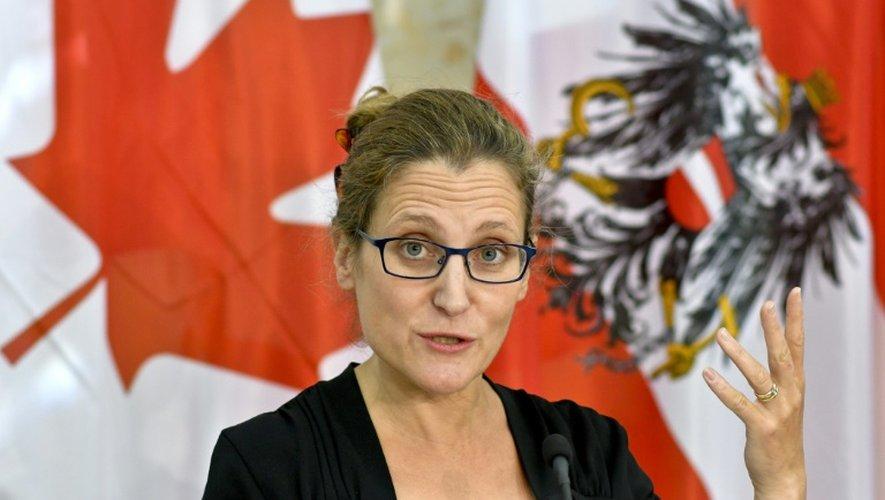 La ministre canadienne du Commerce Chrystia Freeland à Vienne le 21 septembre 2016