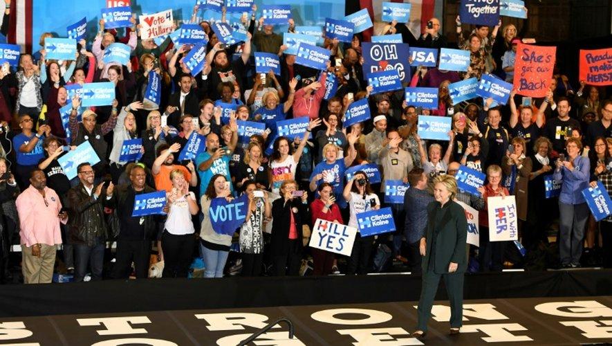 La candidate démocrate à la présidentielle américaine Hillary Clinton à Cleveland, le 21 octobre 2016